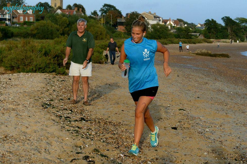 female finish run